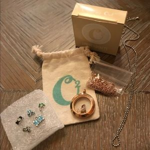 Origami Owl Brand Charms, Holder and necklace